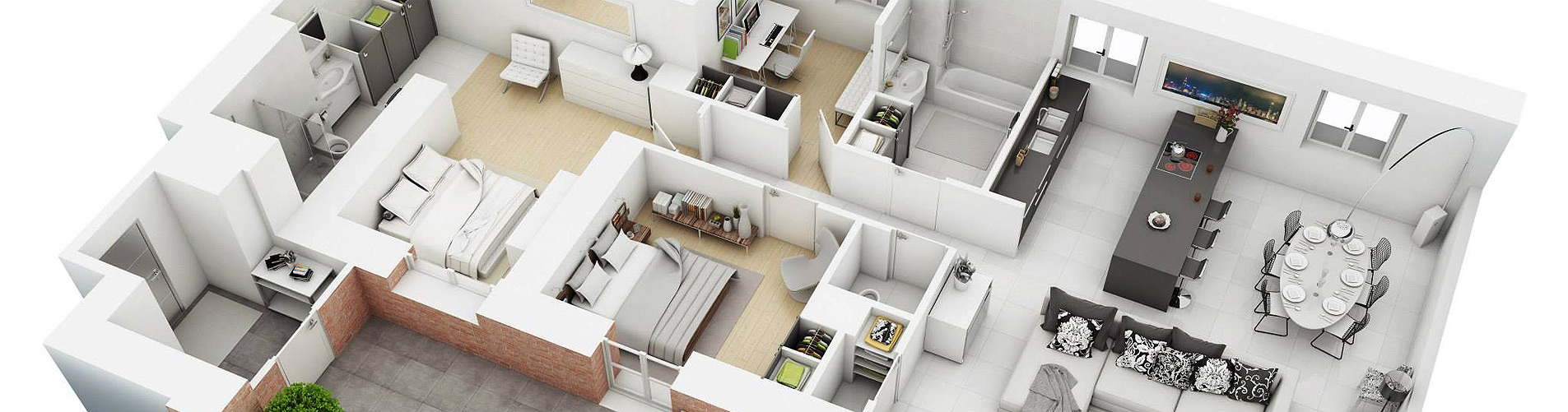 3D Floor Plan of Luxury House